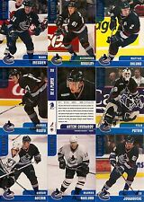 1999-00 BAP Be A Player Memorabilia Vancouver Canucks Complete Team Set (17)