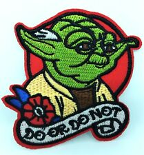 "Star Wars Yoda ""Do or Do Not"" Iron On Patch Badge Quality Embroidered"