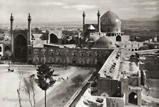 1934 Vintage 11x14 ~ IRAN ~ Isfahan Imam Mosque Architecture Landscape Photo Art