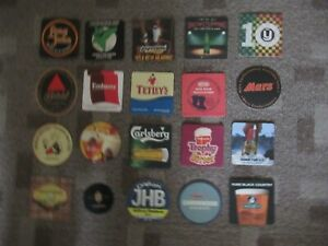 20 Assorted Beer Mats/Coasters - Mostly UK