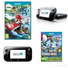 Nintendo Wii U 32 GB Black Console + Super Mario Bros+Mario Kart 8 Same Day Post