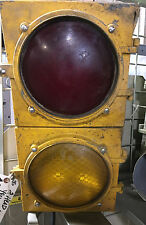 "VINTAGE ECONOLITE 2 HEAD TRAFFIC LIGHT   ""2TL1228"""