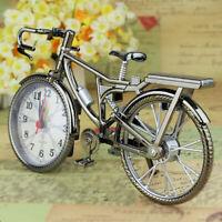 KE_ Vintage Arabic Numeral Retro Bicycle Pattern Creative Alarm Clock Home Dec
