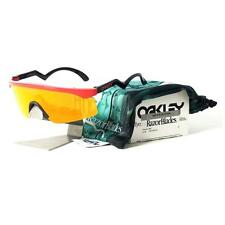 Oakley OO 9140-14 RAZOR BLADES Heritage Collection Red Fire Iridium Sunglasses