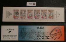 Carnet France2570BCannée1989la révolution Françaiseneuf non plié