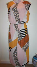 NEXT ABSTRACT PATCHWORK STYLE LONG DRESS size 14 BNWT £40