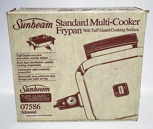 "Vintage Sunbeam 9"" Multi Cooker Fry Pan 07586 Almond Open Box 1984"