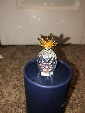 New ListingSwarovski Crystal Pineapple With Gold Leaves Figurine With Box