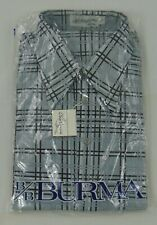 Oleg Cassini By Burma Disco Shirt XXL 100% Nylon Excellent Craftsmanship Plaid