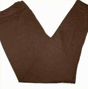 Tween Lularoe Leggings Solid Brown NWT 49783