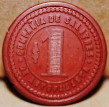 CHILE BAKELITE TOKEN Compañia Salitrera Antofagasta $1 (Red/Red)