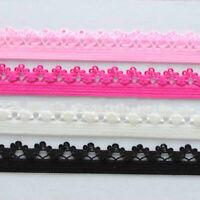 8Y Elastic Band Flower Lace Ribbon Trim Underwear Stretchy Wedding Dress DIY