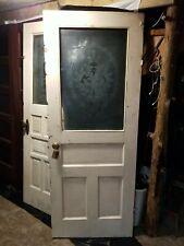 Vintage Wooden Exterior Door W/ Original Hardware