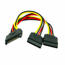 2pcs/lot SATA Hard Disk Power Male to 2 Female Splitter 1 to 2 Extension Cable