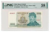 CHILE banknote 1000 Pesos 1979 PMG AU 58 Choice About Uncirculated