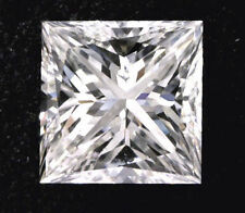 1.03 carat Princess cut Diamond GIA certificate F color VS2 clarity Ideal loose