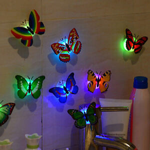 Random Color Butterfly LED Night Light Lamp Home Room Party Wall Decoration