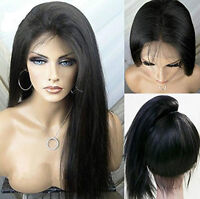 Women Long Synthetic Brazilian Long Hair Lace Front Wig Straight Heat Resistant