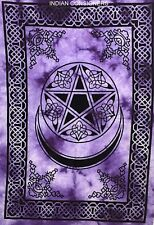 Home Decor Wall Hanging Star &moon Small Tapestry Poster Fabric Cotton Soft Wash