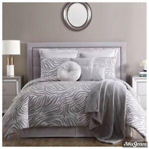 VCNY Home Serengeti 10-Pc. California King Comforter Set Grey NEW NWT 360.00