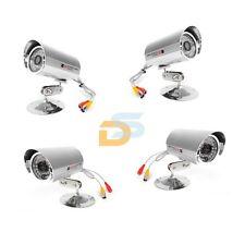 TELECAMERA INFRAROSSI 48 LED 420TVL A COLORI VIDEOSORVEGLIANZA KIT X4 TELECAMERE