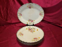 Vintage Sebring Pottery Co. Porcelain Plates and Platter (circa 1920s)