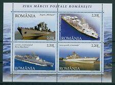 Rumänien 2005 Mi.Block 358 ** Kriegsschiff,Fregatte,Flusskanonenboot,Schulschiff