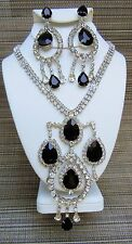 Kirks Folly Vintage Dramatic Dazzling Necklace & Earring Set