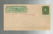Excellent État Mexico Wells Fargo Express Courrier Postal Papeterie Enveloppe 10