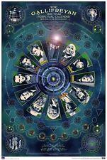 Dr Who 11 Doctor Gallifreyan Large 36 X 24 7500 Year Gallifreyian Calendar Dalek