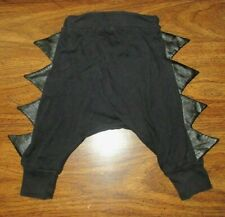 INFANT BOYS SPIKED LEG KNIT PANTS 18-24 MOS BLACK RAIDERS PIRATE PANTS