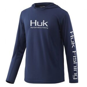 HUK Youth Icon X Hoodie-Fishing Shirt--Pick Color/Size-Free Ship