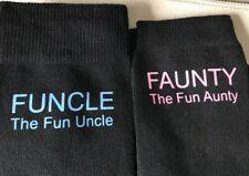 2 NOVELTY  PAIRS SOCKS 1UNCLE & 1AUNTY CHRISTMAS/BIRTHDAY GIFT