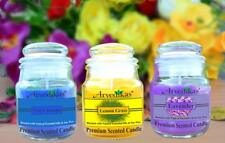 Arvedikas Set of 3 Natural Essential Oil Soy Wax Scented Candle Blended in Glass