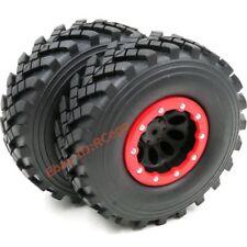 2pcs RC 2.2 Crawler Truck Tires Tyres 124mm & 2.2 Beadlock Wheels Rims Hex 12mm
