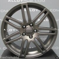 "GENUINE AUDI A3 8P BLACK EDITION S-LINE GREY 18""INCH SINGLE ALLOY WHEEL X1 7.5J"