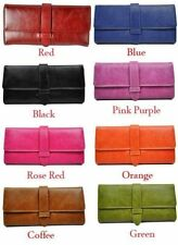 Faux Leather Trifold Women's Purses & Wallets with Organizer