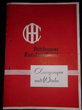 Prospekt Sales Brochure  IHC Schlepper Kundendienst anregungen und Winke