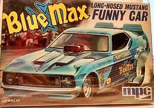 BLUE MAX LONG-NOSED MUSTANG FUNNY CAR 1/25th MODEL KIT by MPC