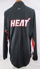 Nike Miami Heat NBA Shooting Shirt Jersey button Up Warm-Up Mens 2XL VINTAGE