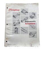 Humphrey Products Company Catalog No. HKC2 Pneumatic Actuators 1997 Book MSRP 50