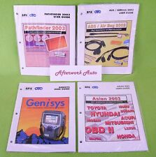 User Manual for OTC Genisys Scanner & 3 Smart Card Guides, Asian ABS Pathfinder