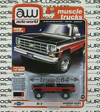 Auto World 1:64 2020 R3 Lifted 1978 CHEVROLET SILVERADO K10 FLEETSIDE Pickup V#A