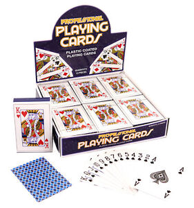 Deck Of Classic Playing Cards - Poker Game Plastic Coated Magic Kids Gift Prize