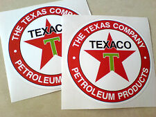 TEXACO THE TEXAS COMPANY  PETROLEUM Car Stickers Decals 2 off 95mm