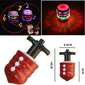 Magic Spinning Top Gyro Spinner Laser LED Music Flash Light Kids Toy Christmas