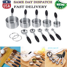 Stainless Steel Measuring Cups & Spoons 10-Piece Set, 5 Cups & 5 spoons Kitchen