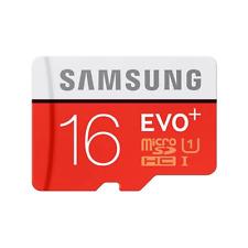 Samsung High Speed Micro SDHC EVO Plus + Class 10 UHS-I SD Memory Card 16GB