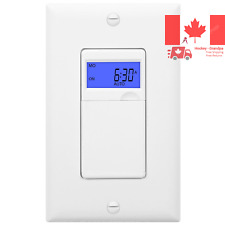 HET01 7 Days Digital In-Wall Programmable Timer Switch for Lights fans and Mo...