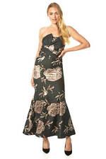 Maxi Vestido Estampado Floral Jacquard cola de pescado-mujeres Roman Originals
